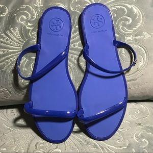 New blue Tory Burch jelly sandal size 9